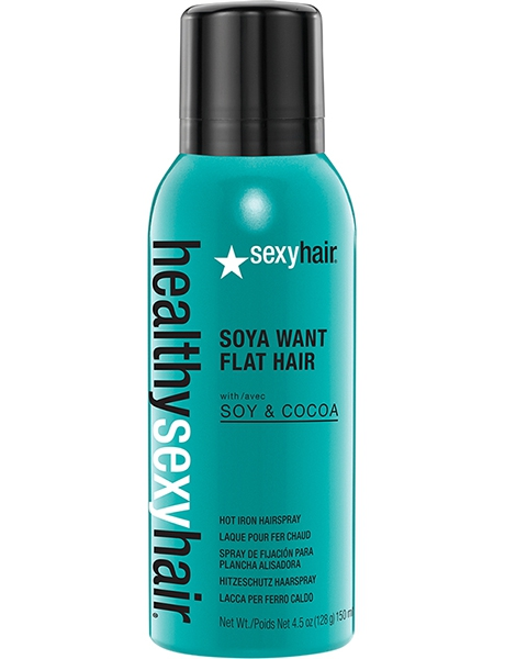 SEXY HAIR SOYA WANT FLAT HAIR FLAT IRON SPRAY СПРЕЙ ДЛЯ ГОРЯЧИХ ЩИПЦОВ, 150 мл.