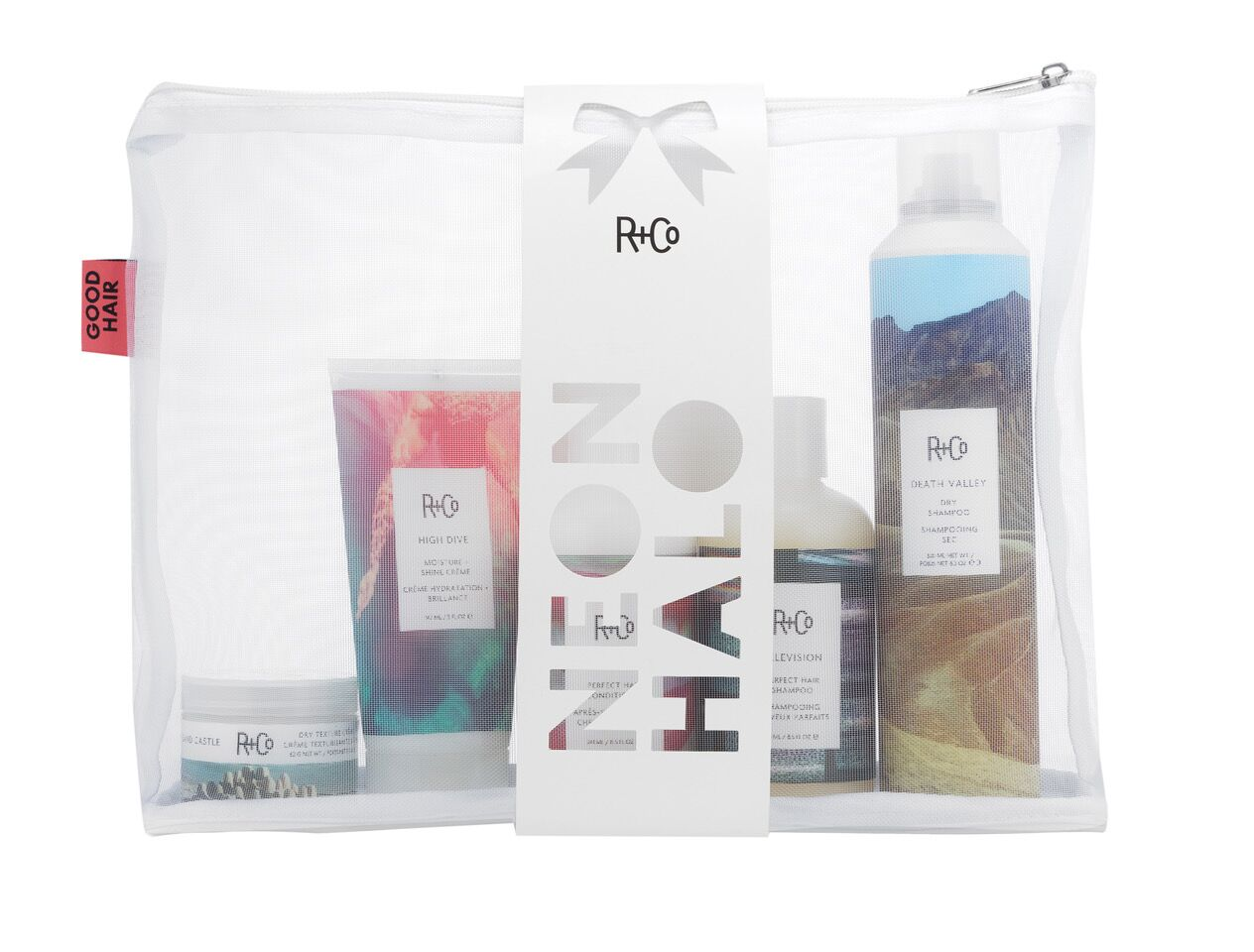 R+Co NEON HALO Holiday Kit/НЕОНОВЫЙ НИМБ набор 241мл+241мл+147мл+62г+300мл